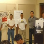 Trabajadores Unidos de Washington DC leaders announce their landmark agreement with the police to investigate wage theft.