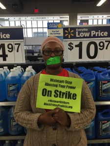 Melinda Gaino, a cashier at the H Street Walmart, went on strike in November of last year in protest of retaliation and low wages.